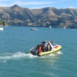 Boats on Akaroa Harbour