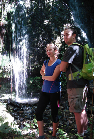 Tamsin and Brad Eldridge on the Newton's Falls walk