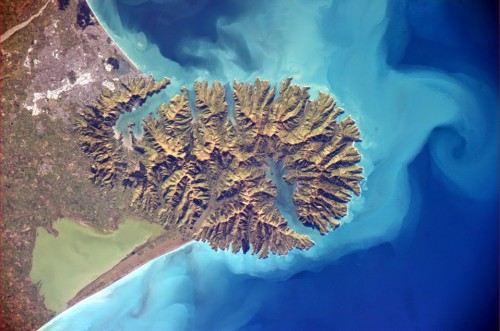Image of Banks Peninsula from space
