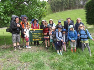 group starting pack horse trek